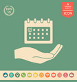 planning time management hand holding calendar vector image