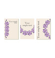purple flower cards vector image vector image