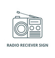 radio reciever sign line icon linear vector image