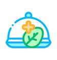 restaurant equipment salver dish sign icon vector image