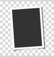 retro realistic photo frame with side ratios 32 vector image vector image