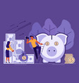 saving or accumulating money concept vector image vector image