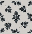 seamless pattern with hand drawn stylized greenery vector image vector image