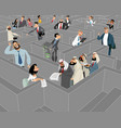 search business customer in maze vector image vector image