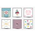 set backgrounds with modern geometric design vector image vector image