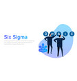 six sigma a concept process business vector image