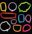 Speech Bubbles Borders vector image vector image