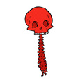 spooky comic cartoon sull and spine vector image vector image