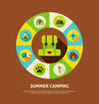 summer camping concept vector image