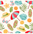 summer elements pattern vector image
