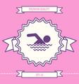 swim icon symbol graphic elements for your design vector image