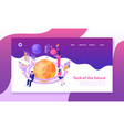 technology isometric banner vector image vector image