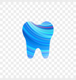 tooth logo dentist stomatology dental icon vector image vector image