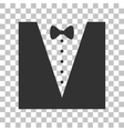 Tuxedo with bow silhouette Dark gray icon on vector image vector image
