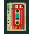 Typographic Retro Party poster design vector image