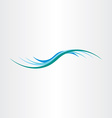 water wave element design icon vector image vector image