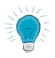 blue light bulb hand drawn vector image