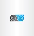 black blue infinity spiral symbol vector image