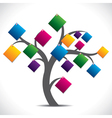 color paper note tree vector image
