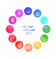 watercolor circles frame vector image