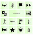 14 banner icons vector image vector image