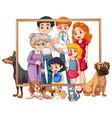 a family photo frame vector image