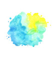 abstract yellow blue and green watercolor banner vector image vector image