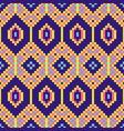 african geometric seamless pattern pixel art vector image vector image