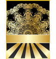 background with golden floral vector image vector image