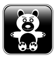 Bear button vector image vector image