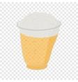 Beer in plastic cups vector image vector image