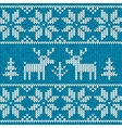 Blue sweater with deer vector image vector image