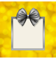 bow and square box frame vector image vector image