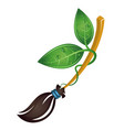 broom for cleaning bio vector image vector image