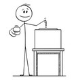 cartoon man pointing at voter or elector and vector image