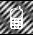 cell phone sign icon hole in moire vector image