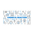 chemical reaction concept outline modern vector image vector image