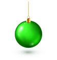 christmas tree shiny green ball new year vector image