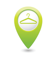 clothers hanger icon pointer green vector image vector image