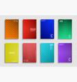 collection bright abstract contemporary vector image