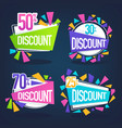 collection of bright discount bubble tags banners vector image