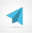 colored paper plane trendy symbol vector image