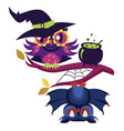 colorful halloween flat poster vector image vector image