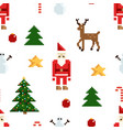 colorful pixel pattern with christmas elements vector image vector image