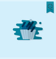 cupcake modern flat icon vector image vector image