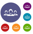 customer support operators icons set vector image vector image