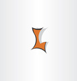 dark orange letter l logo symbol vector image