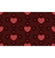 Dark red hearts pattern vector image vector image
