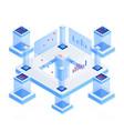 data analytics platform isometric vector image vector image