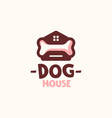 dog house home with bone logo template vector image